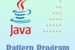 Java Pattern Program - Right Triangle