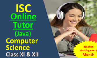 Practical Online Classes Java – ISC 11th & 12th