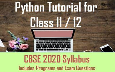 CBSE Python Study 11/12 Simplified